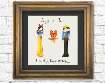 Personalized Custom Friendship and Couples Painting, Handmade Letter Brush Art, Great Gift for Someone you Love!