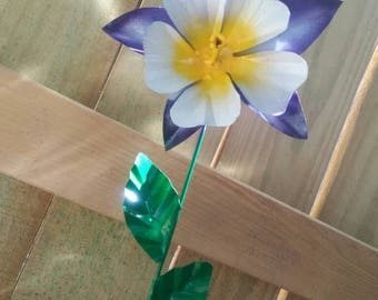 Metal Flower Garden Stake,  Columbine Flower Garden Art,  Metal Garden Decor,  Yard Decoration
