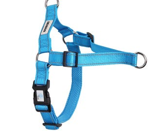 DEXDOG EZTrainer Dog Harness - Blue XX-Small XXS - Small Dogs Puppies Adults Boys Girls! No more pulling!