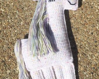 Crocheted Unicorn- Crocheted Unicorn Ragdoll-Crocheted Unicorn Plushie-Crocheted Stuffed Unicorn-Unicorn Baby Shower Gift