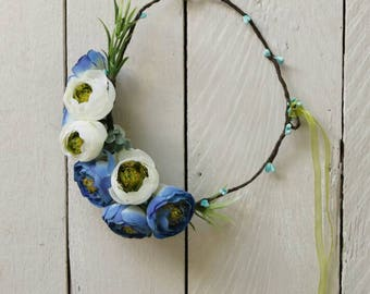 Bridesmaid crown Flower halo Flower headband Flower hair wreath Boho floral crown Wedding flower crown wreath Bridal floral crown