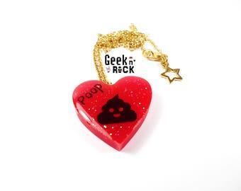 BALANCES-50% POOP necklace Kawaii poop crap emoji