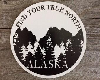 Find Your True North, Alaska Magnet
