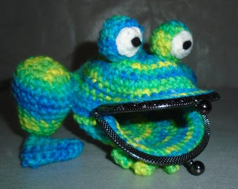 Crochet Frog Coin Purse Amigurumi