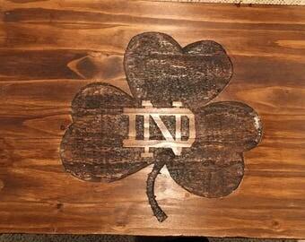 Carving - Notre Dame Logo