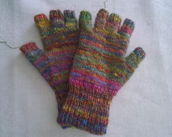 Knitted Ladies' Fingerless Gloves
