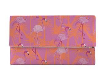 Pink Flamingos Clutch, Flamingo Purse, Tropical Pink Clutch, Tropical Purse