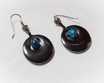 Hemalyke and Blue Magnesite Earrings