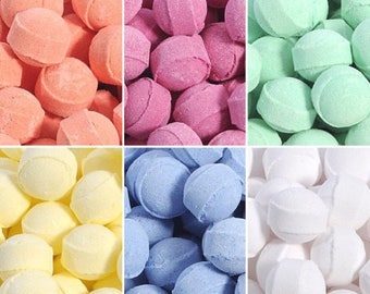 Bath Fizzers, Extra Large Bags, Mini Bath bombs, 100 Bath Fizzers, Chill pills, Kids Bath bombs, Bath marbles, Birthday Favours, Lush Scents