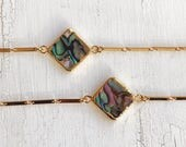 Abalone Muschel Choker, Boho Gypsy Nomad Schmuck, gold Halsband, Geschenk für sie