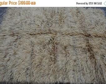 BIG SALE 5'1 x 6'6 FT worn Handmade Moroccan area rug