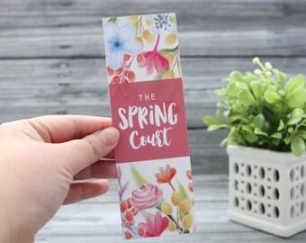 Spring Court Bookmark - ACOTAR/ACOMAF/ACOWAR