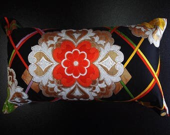Cushion of Obi (Kimono) Japanese Silk  0000089