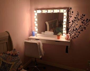 xl kosmetikspiegel mit hollywood beleuchtung perfekt fr ikea eitelkeit leuchtmittel nicht im lieferumfang - Makeup Eitelkeit Beleuchtung Ikea