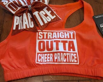 Straight outta practice orange adult extra small
