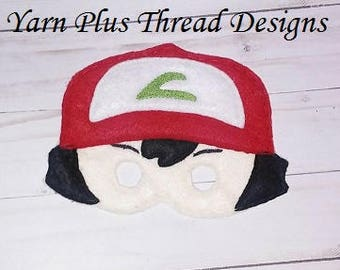 Boy Felt Face Mask Embroidery Design