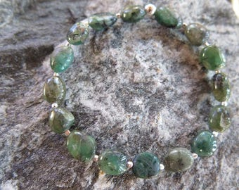 Emerald Bracelet with 925 Silver