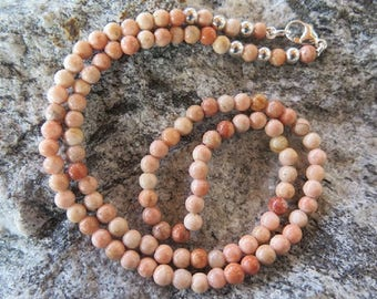 Barite Necklace with 925 Silver parts