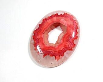 Rhodochrosite Quartz Gemstone Cabochon Oval Rhodochrosite Natural Rhodochrosite Quartz For Jewelry Making 120Cts 52X41X7mm
