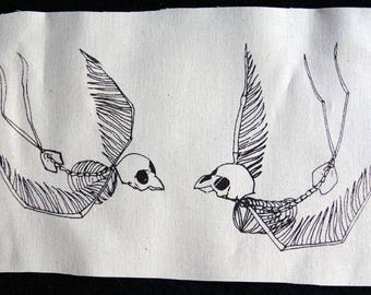 Screenprinted SWALLOWS patch