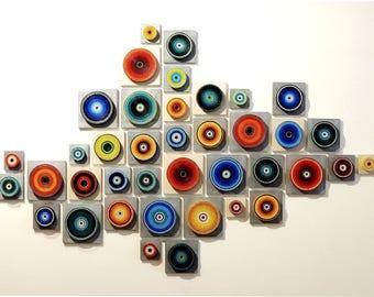 Composition #39 - Abstract Wall Sculpture Installation - 3D Wall Art - Modern Wall Art - Home Decor - Contemporary - Wall Accent