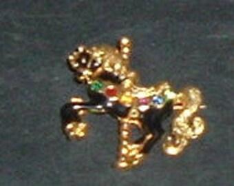 CAROUSEL HORSE PINBACK