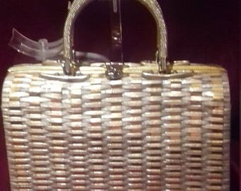 1950s Vintage Ladies Handbag / Purse / 50's Perspex and metal Vintage  Handbag