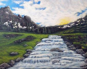 "Original acrylic painting ""water"""