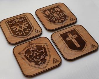 Legend of Zelda Shield Coaster Set Version 1