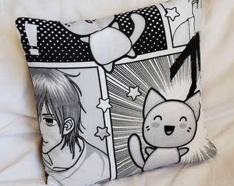 MANGA 40 x 40 cm black and white pillow cover