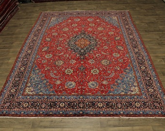 10X13 Gorgeous Handmade Sarough Mahal Persian Rug Oriental Area Carpet 9'7X12'9