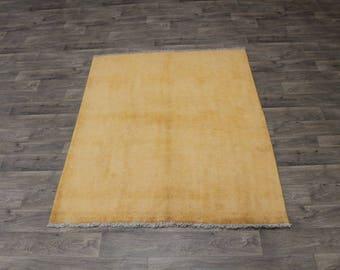 Unique Melon Tribal Genuine Gabbeh Modern Persian Rug Oriental Carpet 5ʹ2X6ʹ6
