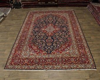 Nice Antique Handmade Rare Kashan Persian Area Rug Oriental Carpet Sale 8X12