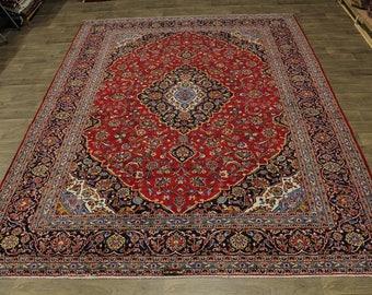 Fantastic Classic Handmade Signed Kashan Persian Rug Oriental Area Carpet 10X13