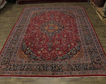 Excellent Hand Knotted Rare Plush Kashmar Persian Rug Oriental Area Carpet 10X13