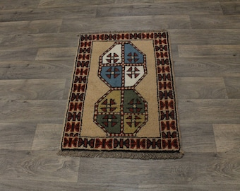 Fantastic Tribal Small Handmade Ghoochan Persian Area Rug Oriental Carpet 2X3