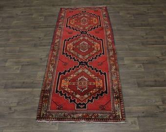 Semi Antique Wide Runner Ardabil Meshkin Persian Rug Oriental Area Carpet 4X10