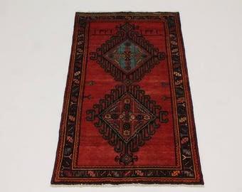 Beautiful Handmade S Antique Signed Hamedan Persian Rug Oriental Area Carpet 4X7