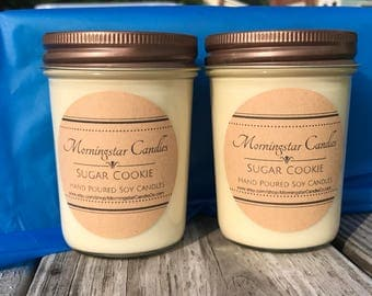 All Natural 8oz Soy Jar Candles - CURRENT STOCK