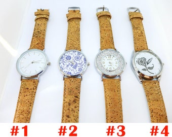 Cork Watch, unisex watch, wrist watches, cork clock, vegan watch, eco-friendly gift