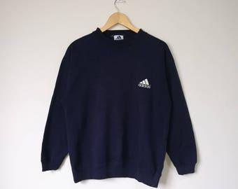 Vintage 90s Adidas Jumper Pullover Sweatshirt Adidas Big Logo Spell Out Adidas Japan Medium Size