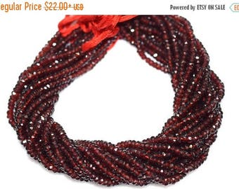 50% OFF AAA Quality Mozambique Garnet Rondelle Beads 13 Inch Strand ,Mozambique Garnet Faceted Rondelle Beads , 5 mm - MC226