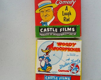 Castle films.  W.C.Filds or Woody Woodpecker. Buyer's choice