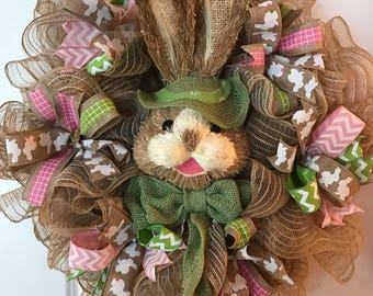 Bunny spring Easter wreath