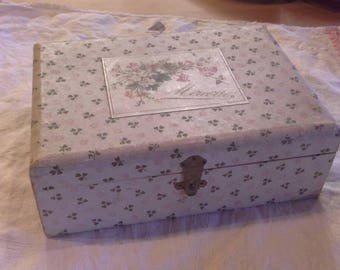 Vintage French sewing box and contents