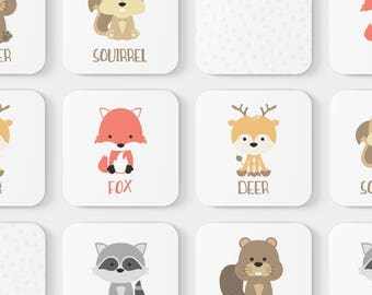 Animal Match Game | Toddler Game | Memory Game | Educational Toy | Toddler Gift | Woodland Animals | Learning Toy | Easter Gift for Kid