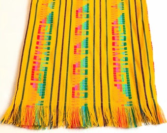 Mexican table runner, mexican tablecloth, southwestern decor, fiesta decorations, mexican party decorations, mexican fabric, boho chic decor