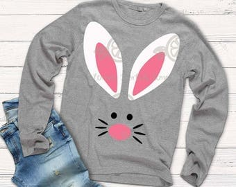 Easter svg, rabbit svg, Bunny svg, Kids easter svg, Easter Bunny, SVG, DXF, EPS, easter cut file, rabbit svg, iron on, bunny shirt, cut