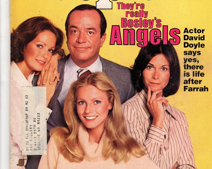 Charlie's Angels Cast People Magazine August 15, 1977 with label