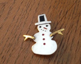 Sterling Silver Snowman Pin